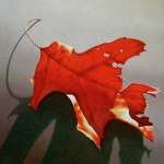 Realistic Paintings - Oak Leaf 1 by Timothy Jones