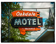 Urban Scene Digital Art Framed Prints - Oakdale Motel Framed Print by Perry Webster