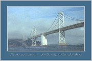 Suspension Drawings - Oakland Bridge - San Francisco Poster Art by Peter Art Print Gallery  - Paintings Photos Posters