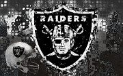 Pro Football Metal Prints - Oakland Raiders Metal Print by Jack Zulli