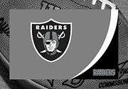 Ball Framed Prints - Oakland Raiders Framed Print by Joe Hamilton