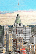 Metropolis Digital Art - Oakland Tribune Building Oakland California 20130426 by Wingsdomain Art and Photography