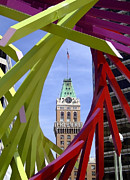 High Rise Framed Prints - Oakland Tribune Framed Print by Donna Blackhall