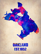 Irina  March - Oakland Watercolor Map