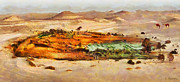 Sand Dunes Paintings - Oasis by George Rossidis