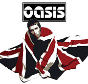 Bands Prints - Oasis No.01 Print by Caio Caldas