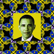 Barack Digital Art Prints - Obama Abstract Window 20130202p55 Print by Wingsdomain Art and Photography