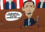 Barack Obama Mixed Media - Obama caricature des armes et emplois gouvernemental by OptionsClick BlogArt