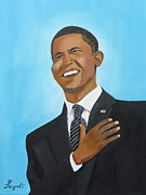 Barack Obama Painting Prints - Obama First Inauguration Print by Artistic Indian Nurse