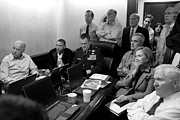United States Government Prints - Obama In White House Situation Room Print by War Is Hell Store