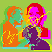 Liberal Digital Art Prints - Obama Print by Jean luc Comperat