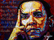 Arango Metal Prints - Obama Metal Print by Maria Arango