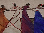 Needle Tapestries - Textiles Originals - Obama Nation by Bonnie Nash