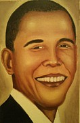 Obama Paintings - Obama Portrait by DeShawn Willis