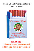 Obama Slims Pack For Lying Liberal Politicians Print by Steven Love