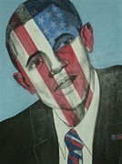 Obama Mixed Media Framed Prints - Obama Framed Print by Stanley Clark