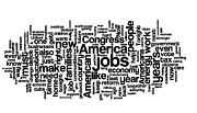 Word Cloud Prints - Obama State of the Union Address - 2013 Print by David Bearden