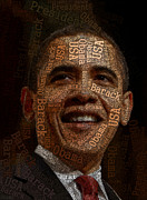 Obama Art Mixed Media - Obama typography art by Boon Mee