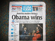 President Of America Originals - Obama Wins 2008 by Eugene Neat  Jr