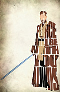 Mixed Media Drawing Prints - Obi-Wan Kenobi - Ewan McGregor Print by Ayse Toyran