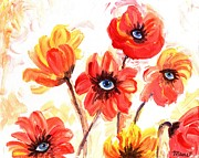 Blue Eyes Art - Observant Flowers 101 by Linda Mears