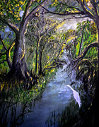 Ocala Painting Framed Prints - Ocala Creek Framed Print by Christy Usilton