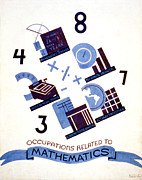 Mathematics Digital Art Prints - Occupations Related to Mathematics Print by Nomad Art And  Design