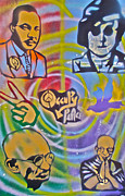 Affirmation Painting Prints - Occupy 4 Peace Print by Tony B Conscious