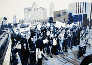 Protest Mixed Media Prints - Occupy Talent Print by Antoine Sleep Mcdowell