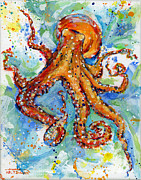 Squid Prints - Occy Print by Arleana Holtzmann