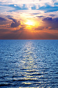 Rays Art - Ocean and a colorful sunset by Michal Bednarek