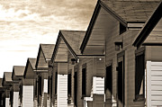 Bungalows Framed Prints - Ocean Beach Bungalows Framed Print by Larry Butterworth
