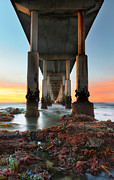 Oceanside Prints - Ocean Beach California Pier 2 Print by Larry Marshall