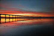 Larry Marshall Prints - Ocean Beach California Pier 3 Print by Larry Marshall