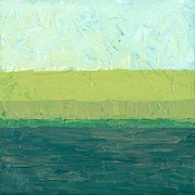 Textural Paintings - Ocean Blue and Green by Michelle Calkins