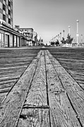 Atlantic Beaches Framed Prints - Ocean City BW Framed Print by JC Findley