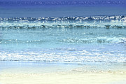 Beaches Photos - Ocean colors abstract by Elena Elisseeva