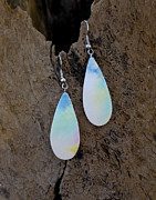 Gold Earrings Jewelry Originals - Ocean Fog by Sandra Schultz