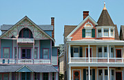 Wooden Building Posters - Ocean Grove Gingerbread Homes Poster by Anna Lisa Yoder