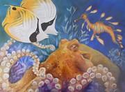 Ocean Hang Out Print by Summer Celeste