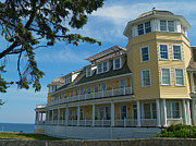 Old Inns  Prints - Ocean House Side View - Watch Hill Print by Anna Lisa Yoder