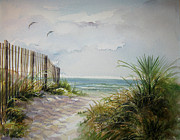 Ocean Isle Prints - Ocean Isle Beach SOLD Print by Gloria Turner
