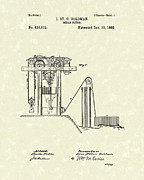 Mechanical Drawings - Ocean Motor 1889 Patent Art by Prior Art Design