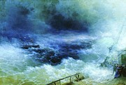 Storm Prints Painting Posters - Ocean Poster by Pg Reproductions