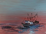 North Sea Paintings - Ocean Rider by PainterArtist FIN