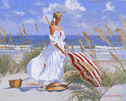 Copley Paintings - Ocean Side Breeze by Candace Lovely