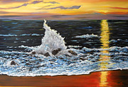 Connie Tom - Ocean Spray at Sundown