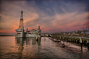 Offshore Drilling Framed Prints - Ocean Star Framed Print by Thomas Zimmerman