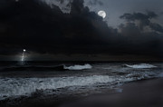 Moonscape Prints - Ocean Storm Print by Bill  Wakeley