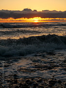 Christopher Fridley Prints - Ocean Sunset Print by Christopher Fridley